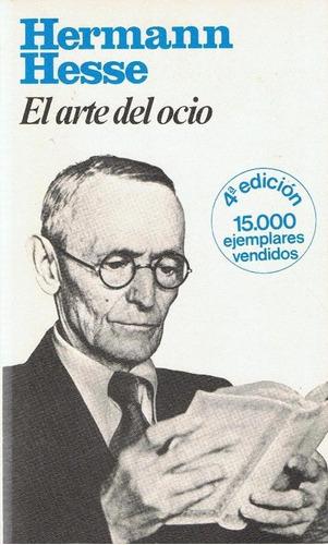 libro, el arte del ocio de hermann hesse.