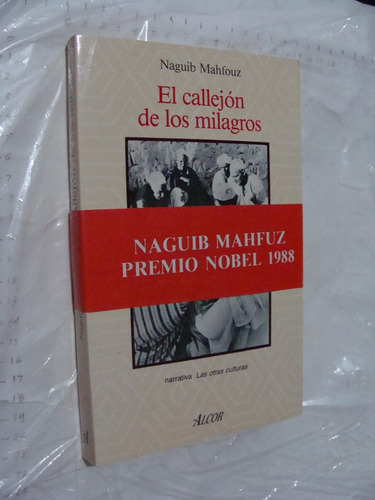 libro el callejon de los milagros , naguig mahfouz , 307  pa