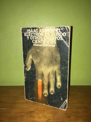 libro, el electrón es zurdo y otros ensayos de isaac asimov