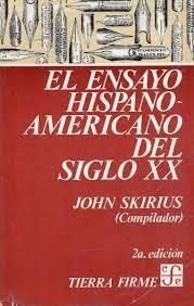 libro el ensayo hispano-americano del siglo xx
