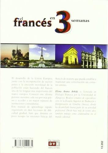 libro, el francés en 3 semanas de elena arana arbide.