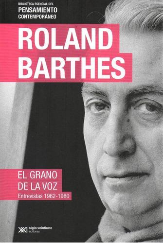 libro: el grano de la voz (barthes) (ed. especial)
