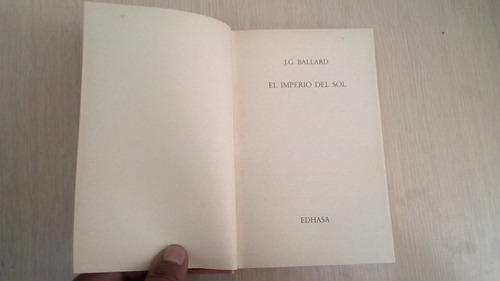 libro el imperio del sol de j. g. ballard