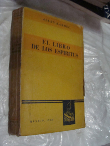libro el libro de los espiritus , allan kardek  ,  373 pagin