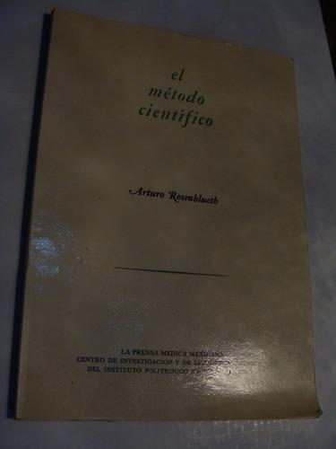 libro el metodo cientifico , arturo rosenblueth  , 84 pagina