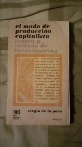 libro el modo de produccón capitalista, sergio de la peña.