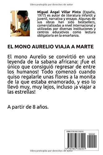libro : el mono aurelio viaja a marte  - villar pinto, mi...