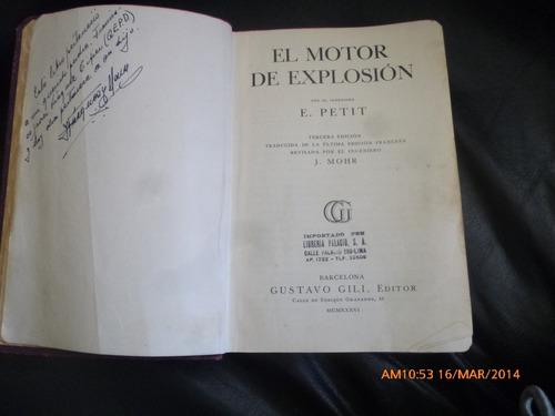 libro el motor de explosion  e .petit gustabo gil edito(77