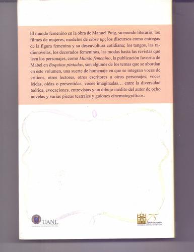 libro el mundo femenino en la obra de manuel puig rosa puig
