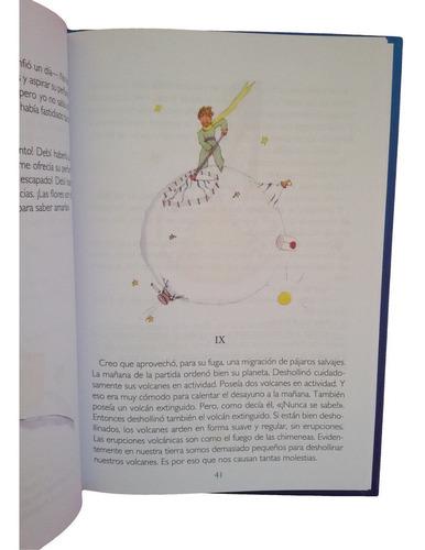 libro el principito - saint exupery - tapa dura - a color