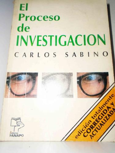 libro el proceso de investigación -  carlos sabino