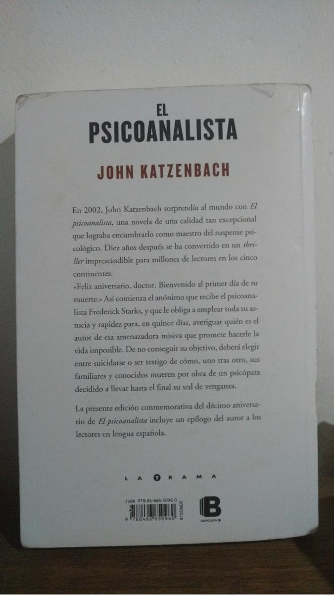 libro el psicoanalista jhon katzenbach decimo aniversario. Cargando zoom.