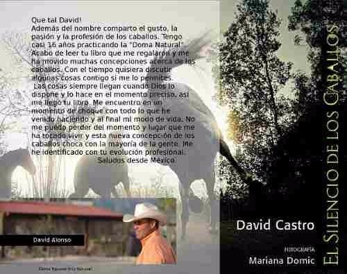 libro el silencio de los caballos- david castro- zona norte