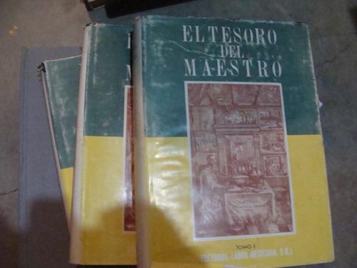 libro el tesoro del maestro , 3 tomos  , año 1952 , 596 , 59