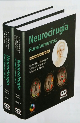 libro ( ellenbogen )   neurocirugía.   2 tomos + dvd.