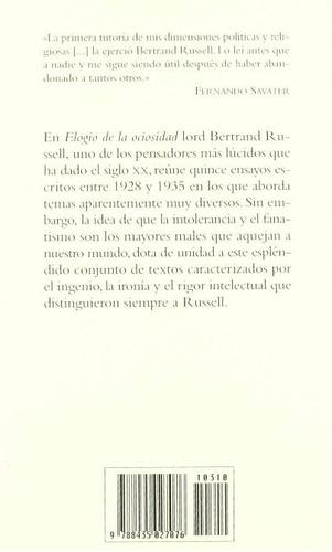 libro, elogio de la ociosidad de bertrand russell.