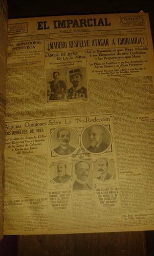 libro empastado con 27 ejemplares de periodico el imparcial