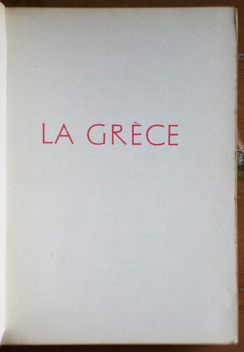 libro en francés: la grece / editions odé 1953