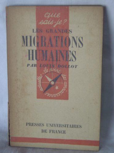 libro en frances: les grandes migrations humaines / dollot