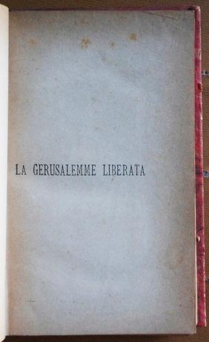 libro en italiano: la gerusalemme liberata / torquato tasso