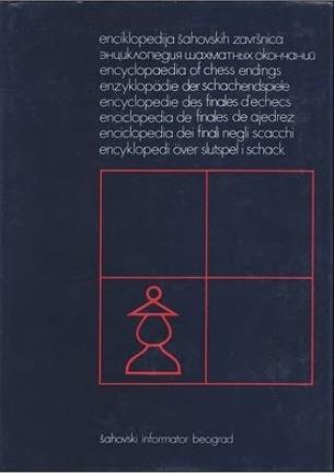 libro, enciclopedia de finales de peones de ajedrez.