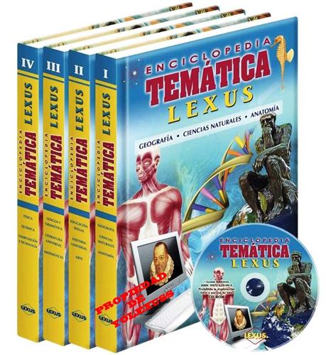 libro enciclopedia temática lexus + cd-rom 4 tomos