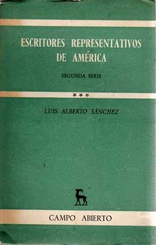 libro escritores representativos de america luis sanchez