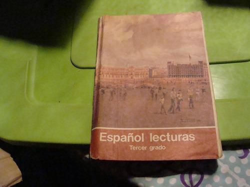 libro español lecturas tercer grado  , 110 paginas , año 198