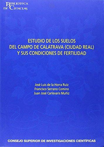 libro estudio de los suelos del campo de calatrava (ciudad r