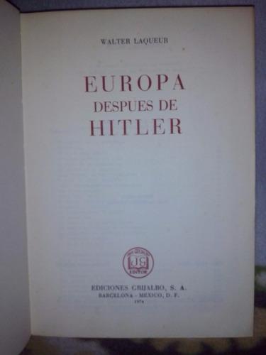 libro   europa después de hitler
