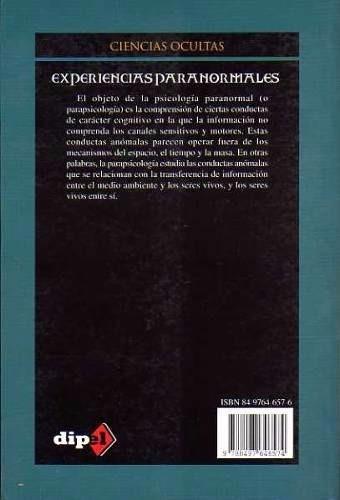 libro experiencias paranormales- ciencias ocultas!!
