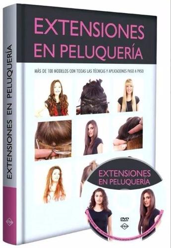 libro extensiones en peluquería incluye dvd - promoción