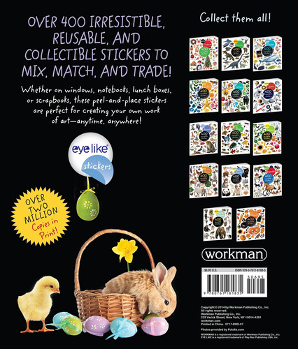 libro eyelike stickers: easter - nuevo