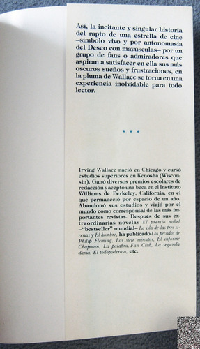 libro: fan club- irving wallace