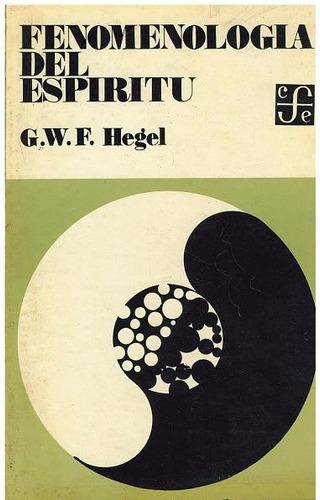 libro, fenomenología del espíritu de g. w. f. hegel.