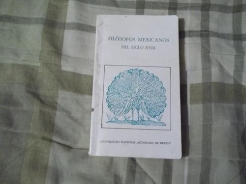 libro filósofos mexicanos del siglo xviii