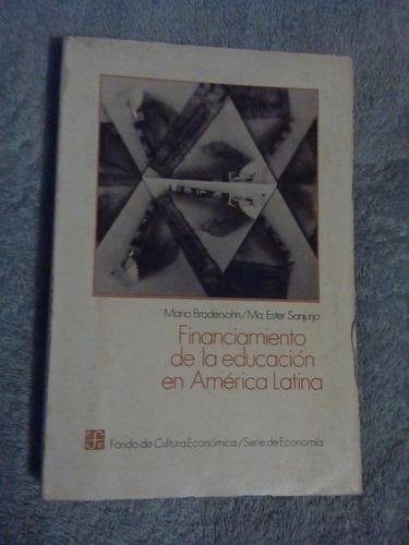 libro financiamiento de la educación en américa latina, mari