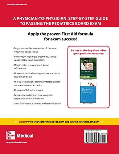 libro first aid for the pediatric boards - nuevo