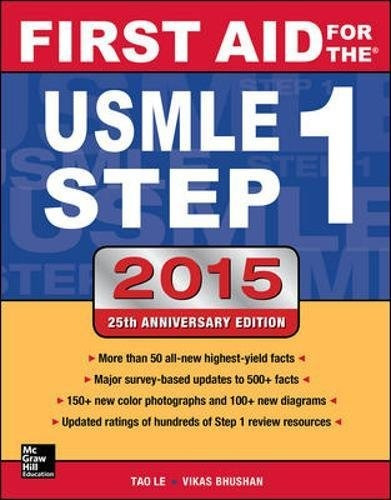 libro first aid for the usmle step 1 2015 - nuevo