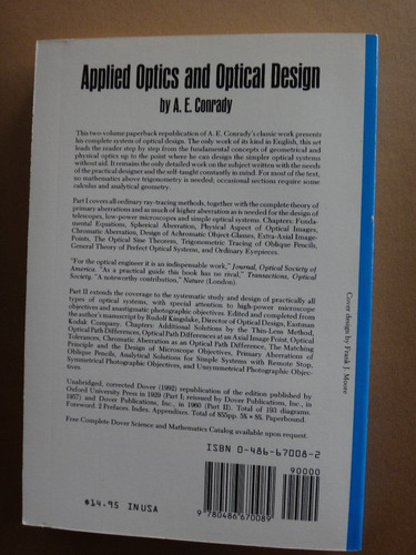 libro fisica applied optics and optical desing v1 conrady