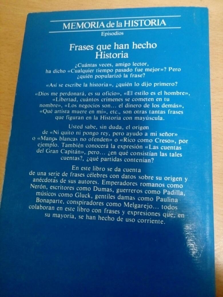 Libro Frases Que Han Echo Historia De Carlos Fisas 12000