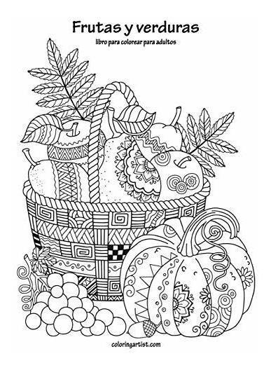 Libro Frutas Y Verduras Libro Para Colorear Para Adultos 1