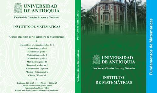 libro fundamentos de matemáticas --  blanco y negro
