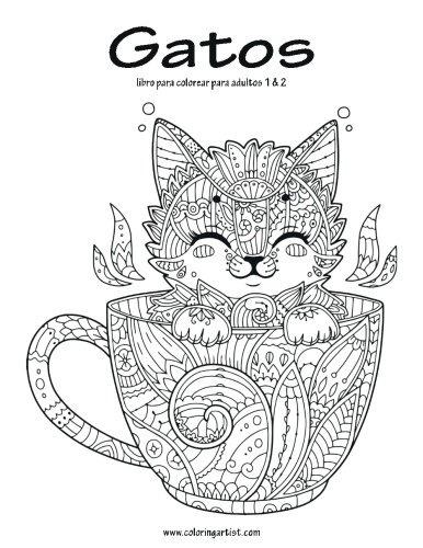 Libro : Gatos Libro Para Colorear Para Adultos 1 & 2 - N ...