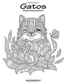 Libro Gatos Libro Para Colorear Para Adultos 2 Volume
