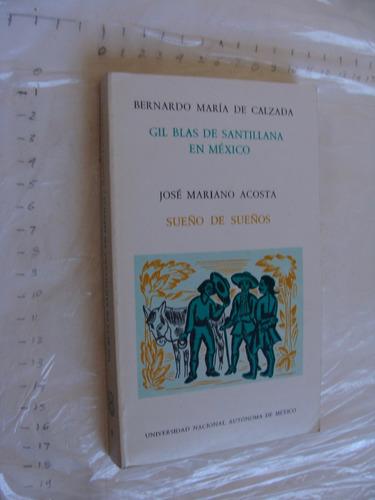 libro gil blas de santillanan mexico bernardo maria de calza