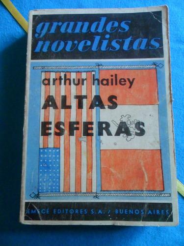 libro grandes novelistas arthur hailey altas esferas