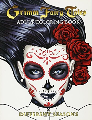 Libro Grimm Fairy Tales Adult Coloring Book Different Seas ...