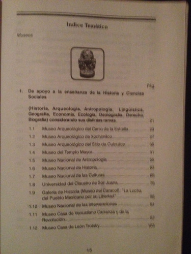 libro guía de los museos del distrito federal por la conalte