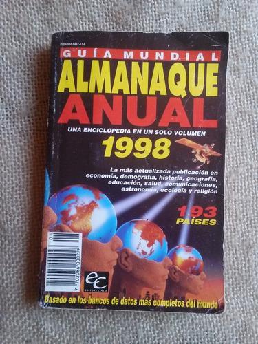 libro guía mundial almanaque anual 1998 bs. 20.000,00